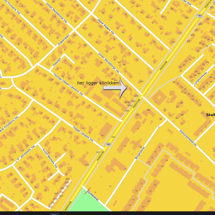 På dette kort kan du se hvor Skalborg Fodpleje & Zoneterapi har adresse
